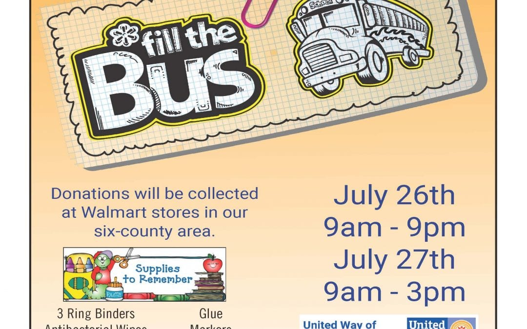 Fill the Bus July 24th and 25th