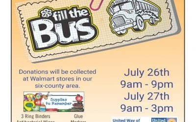 Fill the Bus July 26th and 27th