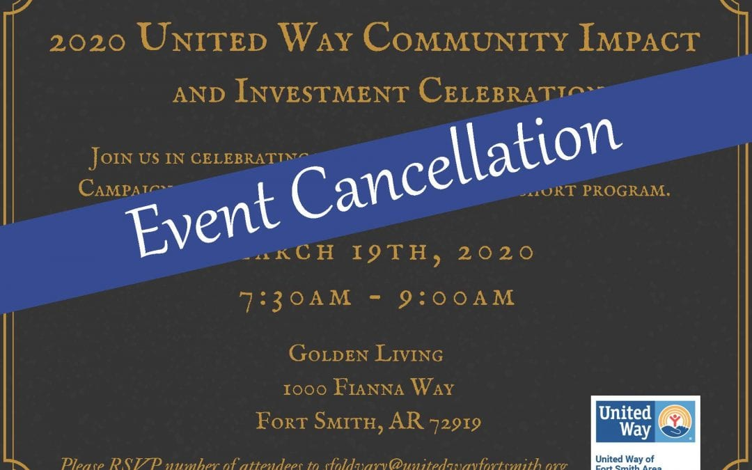 The United Way of Fort Smith Area Adjusts Schedule Of Events